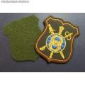 Шеврон военнослужащих 8 Управления ГШ ВС РФ для офисной формы зелёного цвета (с липучкой)