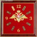 Часы настенные с вышитой эмблемой Вооруженных сил России