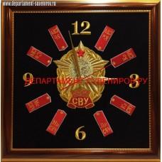 Настенные часы с эмблемой Суворовского военного училища