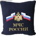 Подушка с вышитой эмблемой МЧС России