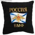 Подушка с вышитой эмблемой ВМФ России