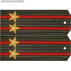 Погоны общевойсковые с вышитыми звездами звание подполковник