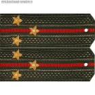Погоны общевойсковые с вышитыми звездами звание старший лейтенант