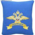 Подушка с вышитой эмблемой МВД России полиция