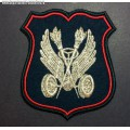 Нарукавный знак военнослужащих подразделений Военной автоинспекции Министерства обороны (парадный)