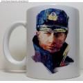 Фарфоровая кружка В.В. Путин в форме ВМФ России