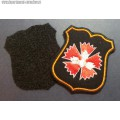 Шеврон военнослужащих ГРУ ГШ ВС РФ для офисной формы чёрного цвета (с липучкой)