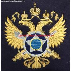 Сувенирная подушка с вышитой эмблемой СВР России