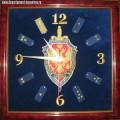Часы настенные с вышитой эмблемой ФСБ РФ