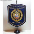 Вымпел на стойке с эмблемой академии ФСО России