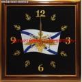 Настенные часы с вышитой эмблемой ВМФ