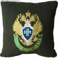 Подушка с вышитой эмблемой Пограничной службы ФСБ России